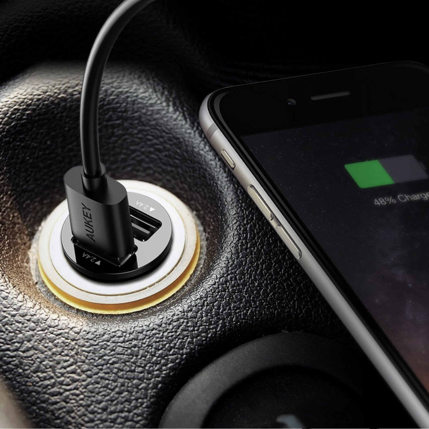 chargeur voiture pour iPhone, iPad, smartphone,Tablette Samsung Galaxy et Appareils Android